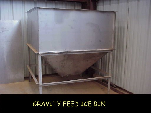 Gravity Feed Ice Bin